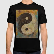 Yin Yang MEDIUM Black Mens Fitted Tee