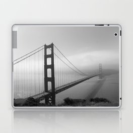 The Golden Gate Bridge In A Mist Laptop & iPad Skin
