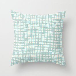 Blue Scribbles Pattern 06 Throw Pillow
