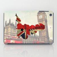 england iPad Cases featuring ENGLAND by mark ashkenazi