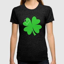 Shamrock St Patrick's Day Gift, Green Clover T-shirt & Tote Bag T-shirt