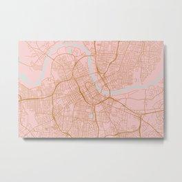 Nashville map, Tennessee Metal Print