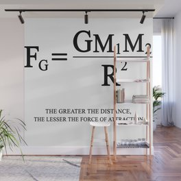 Newton's law of universal gravitation Wall Mural
