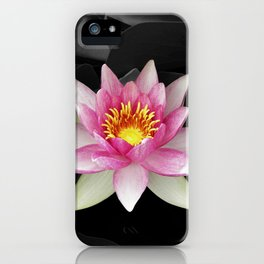 water lily abstract IV iPhone Case