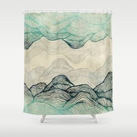 waves Shower Curtains featuring Crash Into Me  by rskinner1122