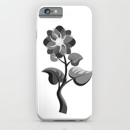 Black and White Plant artwork iPhone Case