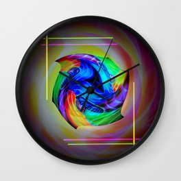 Abstract in perfection - Cube 5 Wall Clock