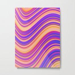 Colorful Wavy Stripes Metal Print