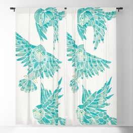 Owls in Flight – Turquoise Palette Blackout Curtain
