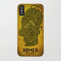 homer iPhone & iPod Cases featuring Homer by Matthew Cridland