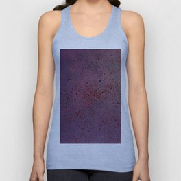 Purple, Red and Black Spatter Unisex Tank Top