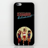 workout iPhone & iPod Skins featuring Zombie Workout by Vincenzo Salvia