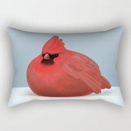 After Christmas cardinal bird Rectangular Pillow