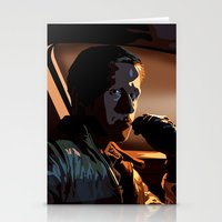 ryan gosling Stationery Cards featuring DRIVE- RYAN GOSLING by MATT WARING