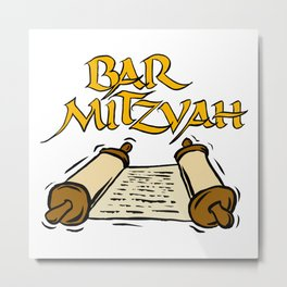 Bar Mitzvah with scroll Metal Print