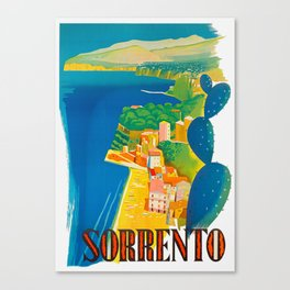 Sorrento Italy ~ Vintage Travel Poster Canvas Print