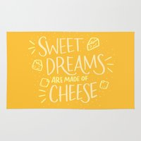 cheese Area & Throw Rugs featuring Cheese Dreams by Josh LaFayette