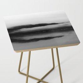 Black and White Alaska Photography, Enchanted Isle Side Table