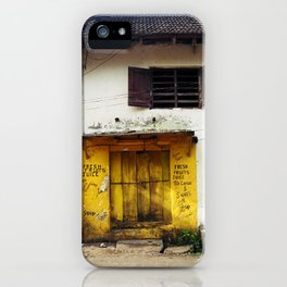 Fort Cochin Door, Fort Cochin, Kerala, India iPhone Case