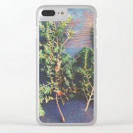Hemlock on Blue Table Clear iPhone Case