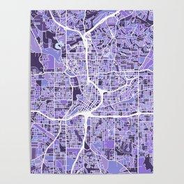 Atlanta Georgia City Map Poster