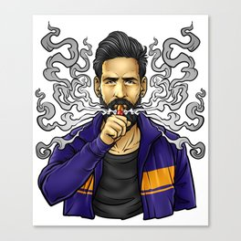 Cloud Chaser - Vaping Bearded Guy Canvas Print
