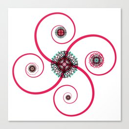 Sacred Geometry Spiro Canvas Print