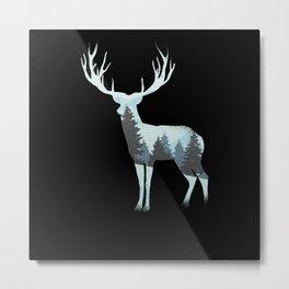 Deer Nature Shirt Metal Print
