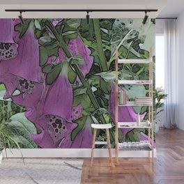 Electric Foxglove Wall Mural