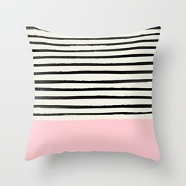 Millennial Pink x Stripes Throw Pillow