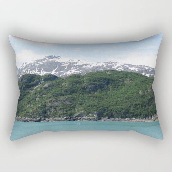 Contrasting Mountains Rectangular Pillow