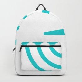 Hannukah Teal Menorah Chanukah Backpack