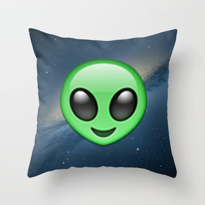 Alien Emoji Throw Pillow By Nolandempsey Society6