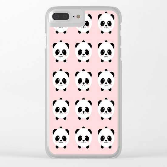 Lovely kawai panda bear Clear iPhone Case