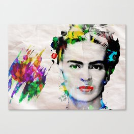 Bright Artist of The Century Frida Poster Print by Robert R Canvas Print