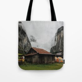 Camping Grounds of Lauterbrunnen, Switzerland Tote Bag