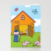 farm Stationery Cards featuring Farm by oekie