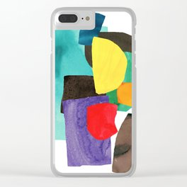 midmod collage Clear iPhone Case