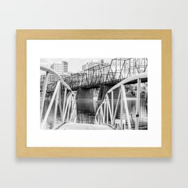 View From a Wobbly Bridge Framed Art Print