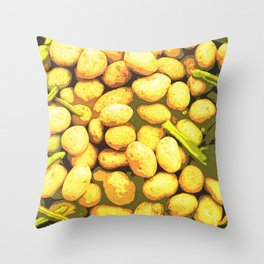 Lots of Potatoes and Vegetables Throw Pillow