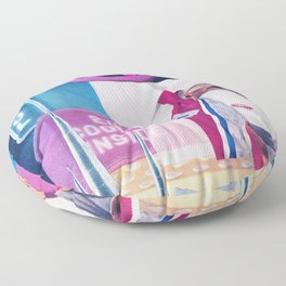 Baby, It's Cold Outside Floor Pillow