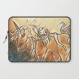 Unicorn Ride Beach Fantasy Laptop Sleeve