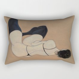 No Couture Needed (oil on canvas) Rectangular Pillow