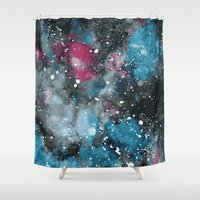 big bang Shower Curtains featuring Big Bang by Zeryndipity