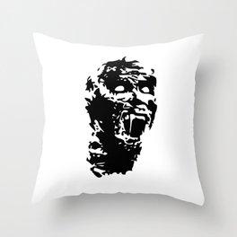 Zombie Face Throw Pillow