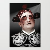 actor Canvas Prints featuring Chinese opera (Actor Portrait). by Ian Gledhill