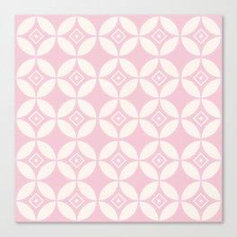 Kawung Pink (Batik) Canvas Print