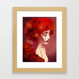 Red Poppy Girl Alternate Framed Art Print