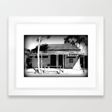 Butcher or Barber Framed Art Print