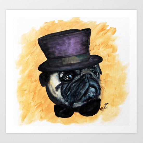 Puggin on the Ritz Art Print